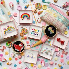 Rainbow brooches and earrings from Erstwilder and Little Pig Jewellery Design