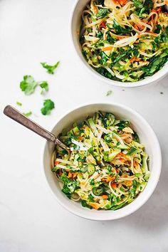 Vietnamese Chicken Salad with Rice Noodles | Pinch of Yum | Bloglovin'