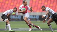 Official HSBC Sevens World Series - Photo Gallery - Dan Norton wearing SPORTTAPE Graffiti Kings at the SA7's