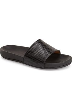 MARC BY MARC JACOBS Textured Leather Slide Sandal (Men) available at #Nordstrom