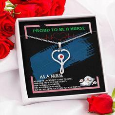 Beautiful Loving Gift for Nurse Doctor Caregiver LPN Heroes Wear Scrubs Heart Pendant Mother Nurse Practitioner