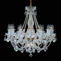 Tomia L 110/12/002 12 Light Balmoral Crystal Chandelier, Clear