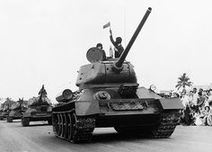 """First produced in 1940. Top speed: 34 mph. Range: 268 miles. The four-stroke 12-cylinder diesel engine gives a power-to-weight ratio of 15.87 horsepower per ton. Armor thickness: 65 millimeters Primary armament: 76.2-mm gun.  The T-34 scores near to full points for firepower, mobility and protection. It surpasses any other tank for ease of manufacture"""