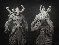 Demon Warrior by ZBrushCentral.com user Eternity-NU #ZBrush