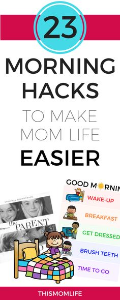 23 Morning Hacks to Make Mom Life Easier - Single Working Mom - Ideas of Single Working Mom - 23 Morning Hacks to Make Mom Life Easier Transform your morning with simple steps Master your morning Mom Advice, Parenting Advice, Kids And Parenting, Single Parenting, Working Mom Tips, Working Mom Schedule, Mom Hacks, Life Hacks, New Moms