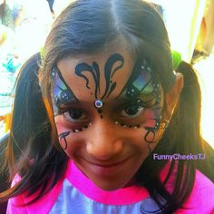 Mermaids and Pirates themed Birthday Party face painting by FunnyCheeksTJ of Funny Cheeks Dallas Face Painting