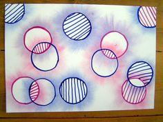 Poussière de pastels et jeux de lignes - Le tour de mes idées