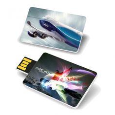 Pen drive Cartão com 4GB de capacidade e impressão digital sem limite de cores