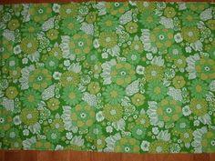 RETRO Blommigt i grönt 70-tal