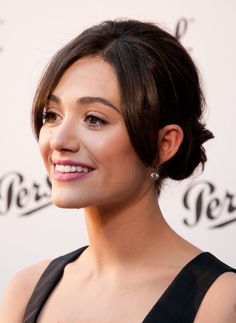 Now THIS Is How You Do an Updo With Side Pieces (At Least It Appears Emmy Rossum Thinks So)