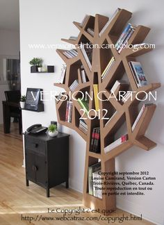 Meubles en carton on pinterest bookshelves lampshades and cardboard furniture - Etagere petite profondeur ...