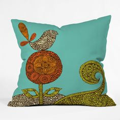 DENY Designs Home Accessories | Valentina Ramos Bird In The Flower Throw Pillow