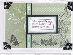 #Kaisercraft papers and stamp with a Creative Memories sentiment