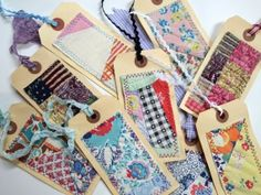 Cutter Quilt Gift Tags -sewed onto the tags