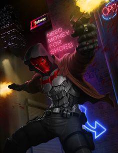 Red Hood Comic, Red Hood Dc, Batman Red Hood, Red Hood Wallpaper, Timothy Drake, Tim Drake Red Robin, Red Hood Jason Todd, Super Hero Outfits, Fanart