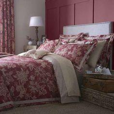 Dorma Red Samira Bed Linen Collection | Dunelm