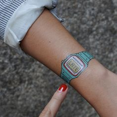 Temporary tattoo watch.