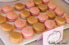 Royal Pink and Gold Macaroons