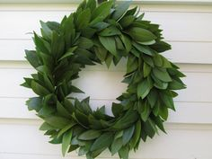 Fresh Bay Leaf Wreath Home Decor / Cooking Herbs Dries to Last Beautifully! Winter Home Decor, Winter House, Autumn Home, Holiday Decor, Christmas Decor, Xmas, Lilac Wedding, Autumn Wedding, Wedding Rustic