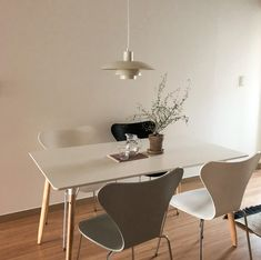 Dining Area, Dining Chairs, Dining Table, Home Decor Kitchen, Kitchen Interior, Korean Cafe, Dream Apartment, Cozy Room, Interior Lighting