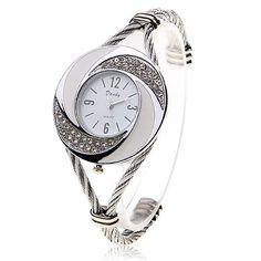 2017 Luxury Brand Rhinestone Whirlwind Design Watch Women Weave Dress Wristwatch Woman Girl Ladies Bracelet Bangle Quartz Watch