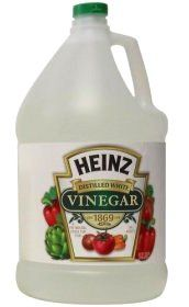 Vinegar: Shower curtains or liners can become dulled by soap film or plagued with mildew. Keep vinegar in a spray bottle near shower and squirt shower curtain once or twice a week. No need to rinse. Just remember, vinegar only stinks when it's wet. When it dries, it leaves no nasty vinegar smell.