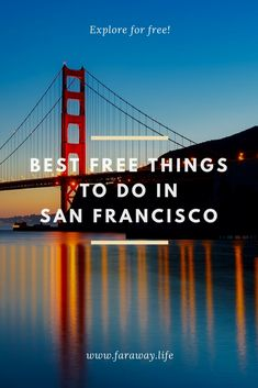 10 exciting and free things to do in San Francisco – faraway. San Francisco City, Free Things To Do, What You Can Do, Tour Guide, Golden Gate Bridge, Stuff To Do, Cool Photos, The Incredibles, Tours