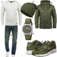 Men's outfit with green Nike's and wristwatch - Clothes - Mode İdeen Swag Outfits, Boy Outfits, Casual Outfits, Men Casual, Fashion Outfits, Best Mens Fashion, New Fashion, Trendy Fashion, Mode Man