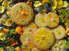 *summer solstice* herby honey cookies ♥
