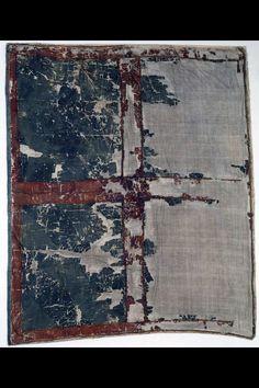 Fahne (profan). Burgunderkriege 1476/77. Fragment eines burgundischen Hauptbanners, Beutestück. Seidentaffet, bemalt. Vor 1476. Masse: Höhe 115 cm, Breite 100 cm.