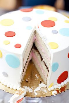 Gender reveal cake... we are doing ours the day after Christmas! Can't wait. I'm having the bakery make the cake with just plain white icing on the outside that way I can decorate it how I want! Can't wait