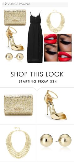 """""""vestido negro"""" by paty-jose on Polyvore featuring Kate Spade, Dolce&Gabbana, BCBGMAXAZRIA, women's clothing, women, female, woman, misses and juniors"""