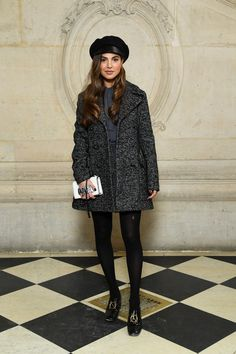 Negin Mirsalehi attends the Christian Dior show as part of the Paris Fashion Week Womenswear Fall/Winter on February 2018 in Paris, France. Paris Outfits, Fall Outfits, Cara Delevingne, Runway Models, Star Fashion, Fashion News, Paris Fashion, Fashion Styles, Tunic Tops For Leggings