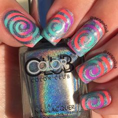 Whirlin' and a'swirlin with our Whirlpool Nail Vinyls! Be totally unique in one…