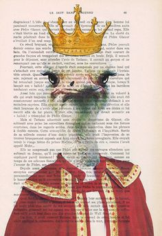 Prints posters Acrylic paintings Illustration Original Drawing Giclee Mixed Media Art digital typography bird art: King Ostrich x
