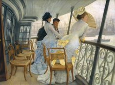 The Gallery of HMS Calcutta (Portsmouth)  circa 1876 by James Tissot