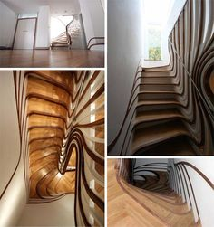 curved built in stairs