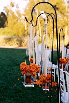 wedding ceremony floral details photo by Yvette Roman Photography