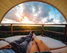 So much love in this Tulum sunrise. #GoPro #Love