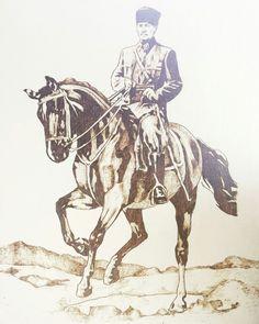 At uzerinde Atatürk calismasi