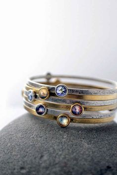 These stackable galaxy bracelets:
