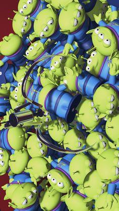 Disney Phone Wallpaper, Cartoon Wallpaper Iphone, Cute Wallpaper Backgrounds, Cute Cartoon Wallpapers, Disney Toys, Disney Cartoons, Disney Art, Walt Disney, Toy Story Movie