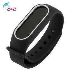 [Visit to Buy] Smart Wrist Strap Bracelet Double Black Replacement Silicone watchband for Original For Xiaomi Mi Band 2 Bracelet Wristbands * #Advertisement