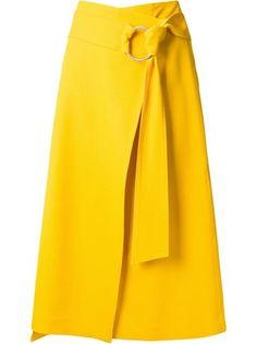 Le Ciel Bleu юбка с запахом 'Georgette' Skirt Outfits, Dress Skirt, Fashion Pants, Fashion Outfits, Chicwish Skirt, Ankara Skirt, Cute Skirts, Wrap Skirts, Yellow Fashion