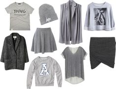 """Grey Selection"" by lachrodemode on Polyvore"