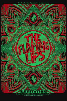 The Flaming Lips Official Hand-Printed Gigposter by MatthewStuartDecker on Etsy