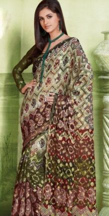 Graceful Faux Georgette Printed Saree