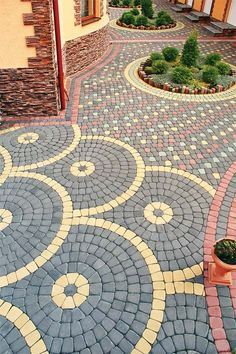 a lovely walkway will change your backyard, will direct the garden odyssey, head to crucial place from your garden and make it easier to control and organize. Driveway Design, Path Design, Landscape Design, Garden Design, Design Ideas, Adoquines Ideas, Paver Designs, Outdoor Projects, Outdoor Decor