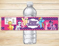 Hey, I found this really awesome Etsy listing at https://www.etsy.com/listing/208643095/my-little-pony-water-bottle-labels