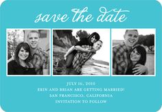 Make your own Engagement Collage:Paradise save the date magnets
